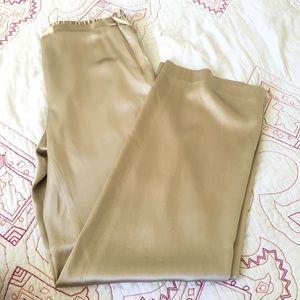 Bloomingdale's vintage 100% silk Gold Pants l 2P